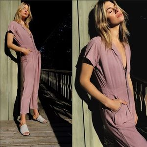 FREE PEOPLE Margo Short Sleeve Coverall Jumpsuit